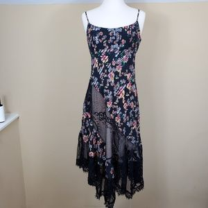 Abs Allen Schwartz Asymmetrical Lace Cami Dress